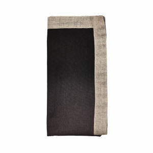 DIP DYE NAPKIN IN GRAY & BLACK, SET OF 4