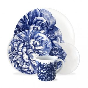 Blue Peony 4 Piece Place Setting