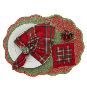 Glimmer Border Scallop Placemats