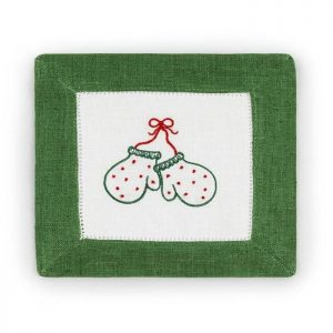 Mittens Napkins Emerald Red