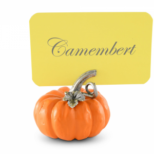 Pumpkin Place Card Holder with card