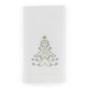 Tree Guest Towel Green