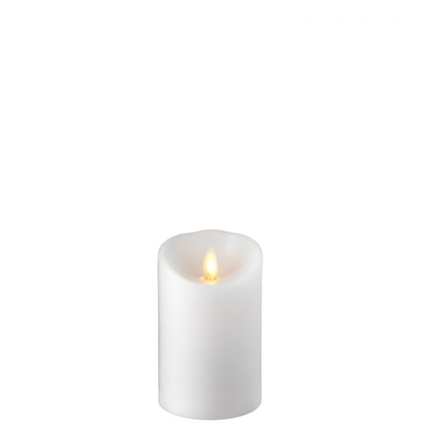 3.5 x 5.5 Moving Flame Flameless White Pillar Candle