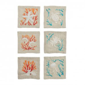 Cozumle Cocktail Napkins in Natural and Multi
