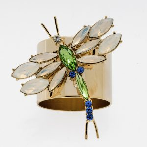 DragonFly Napkin RIng Opal