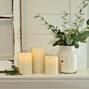 Matchless Candle Co Push Button Pillar LED Candle Lifestyle
