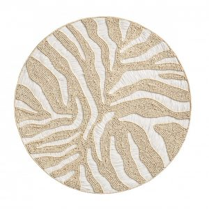 Serengeti Placemat in White and Natural