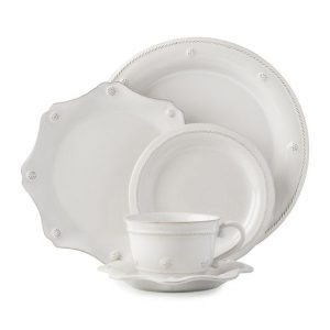 Berry & Thread Whitewash 5pc Setting with teac cup