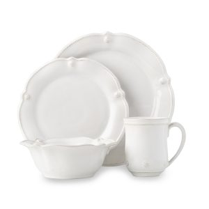 Berry and Thread Whitewash Flared 4pc Place Setting