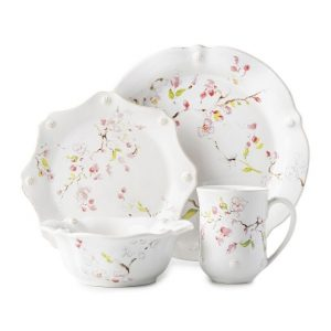 Berry and Thread Floral Sketch Cherry Blossom 4pc Place Setting