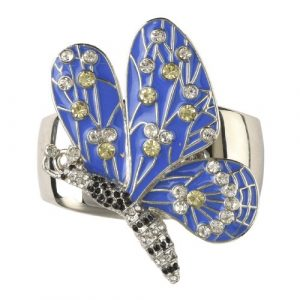 Blue Butterfly Crystal Napkin Ring
