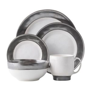 Emerson White Pewter 5pc Place setting