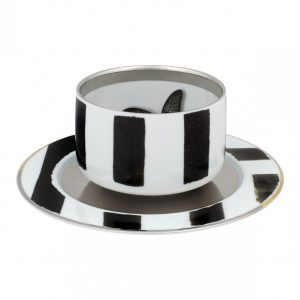 Sol y Sombra Tea Cup with Saucer Butterfly